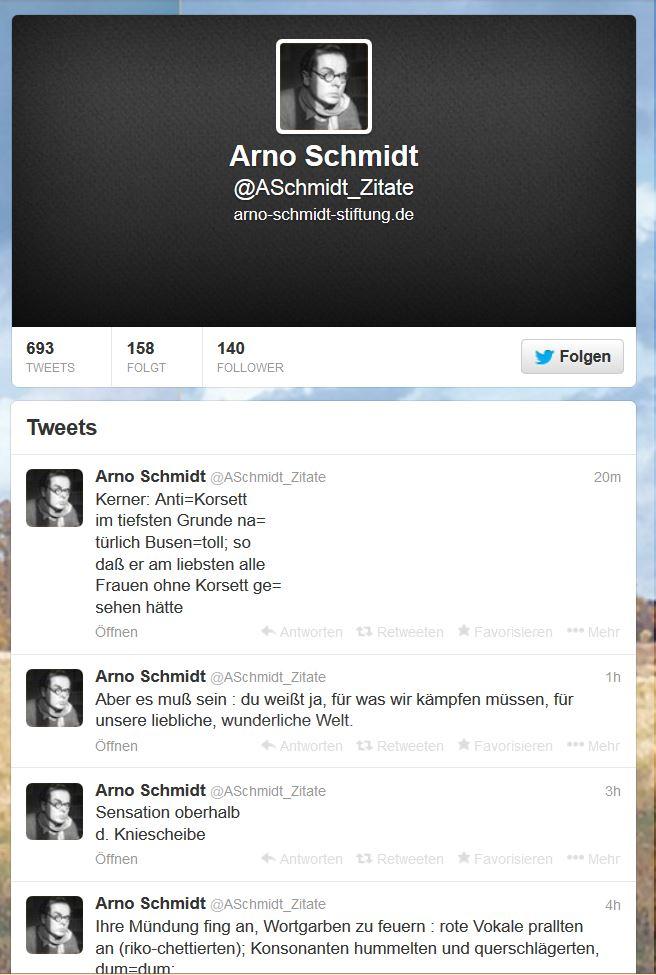 Arno Schmidt auf Twitter